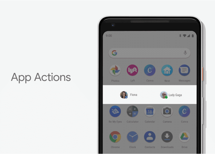 android p actions