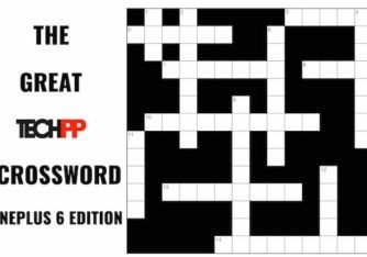The Great TechPP Crossword: OnePlus 6 Edition