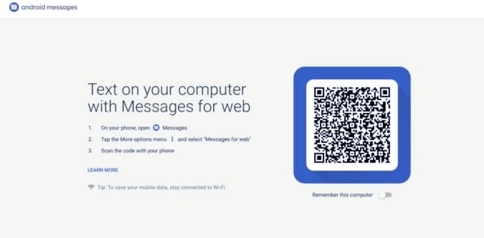 android messages web e1529402500728