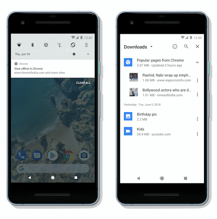 Google Chrome on Android can now Automatically Download Relevant Content for Offline Use