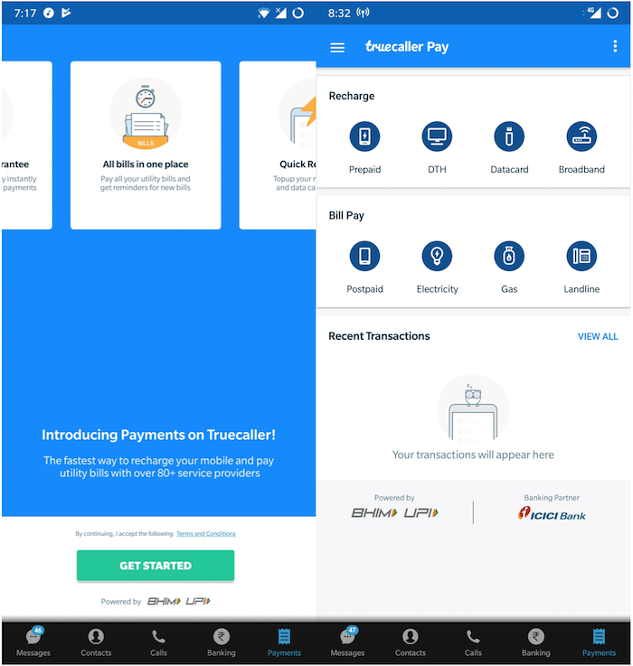 Truecaller Adds the Ability to Recharge and Pay Bills on its Android App