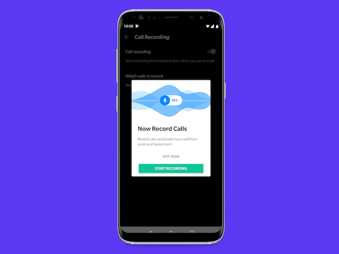 truecaller call recording