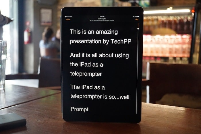 How to Use Your iPad as a Teleprompter