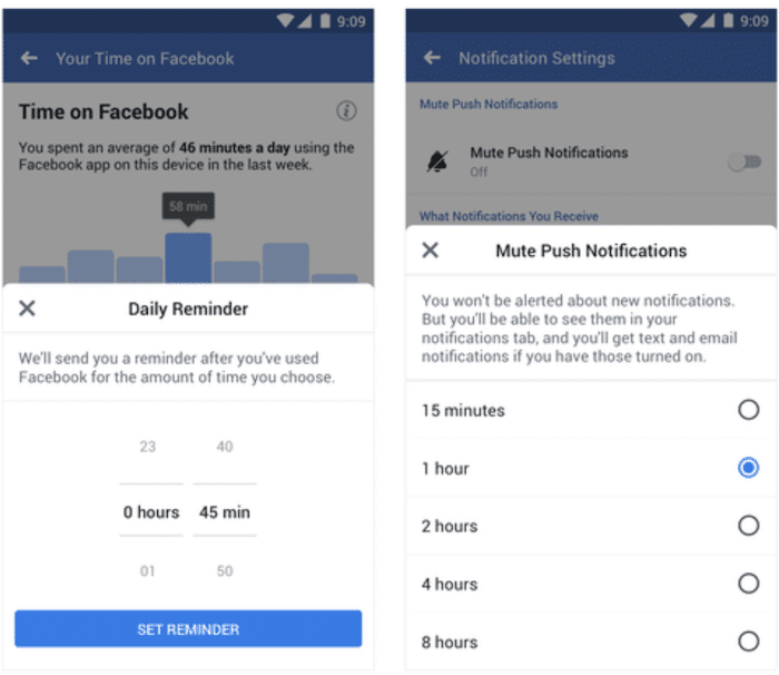 facebook activity dashboard