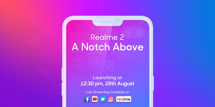 RealMe 2 will be Officially Launched on August 28th