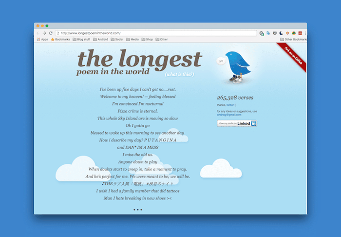 This Web App Fulfills Twitter's Ultimate Purpose by Turning Random Tweets into Poetry
