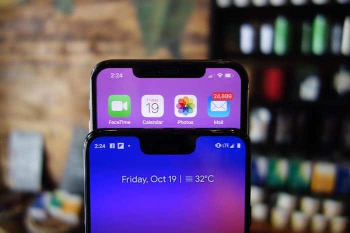 Google Pixel 3 XL and iPhone X - a tale of two notches