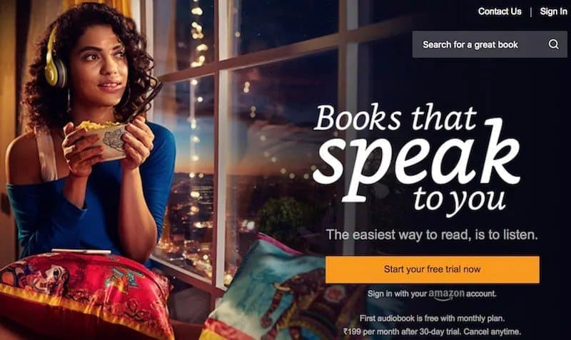 Amazon Audible Launched in India, Membership Starts from Rs 199 Per Month