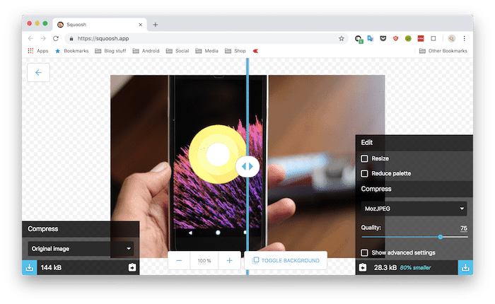 Google's new Web Tool, Squoosh can Dramatically Compress Your Images in Seconds