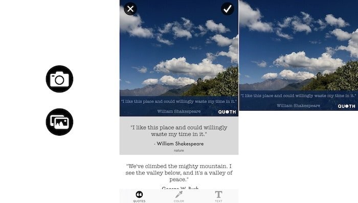 Quoth is a new social media tool that uses AI to suggest quotes for your picture