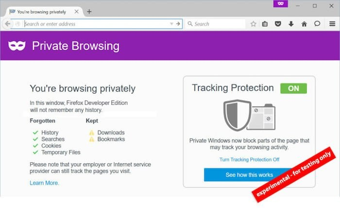 firefox incognito tracking