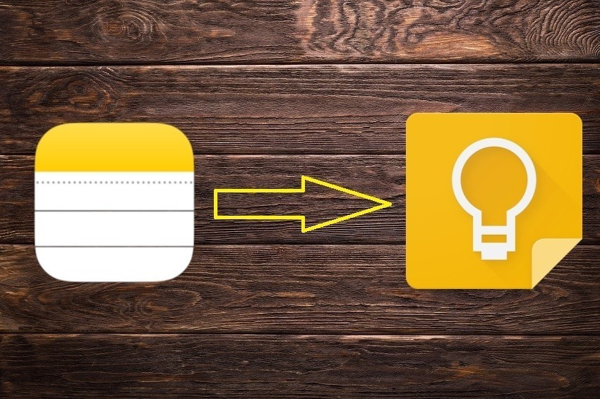 transfer notes from iphone notes to google keep