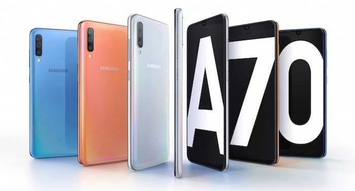 Samsung Galaxy A70 with In-display Fingerprint Scanner and 4500mAh Battery Revealed