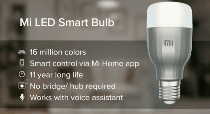 Mi Smart LED Bulb announced in India, will go on crowdfunding on April 26