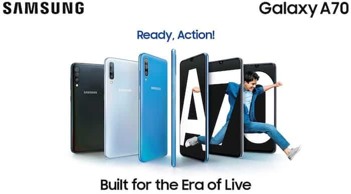 Samsung Galaxy A70 with 6.7-inch FHD+ AMOLED Infinity-U display and Triple Rear Cameras Launched in India