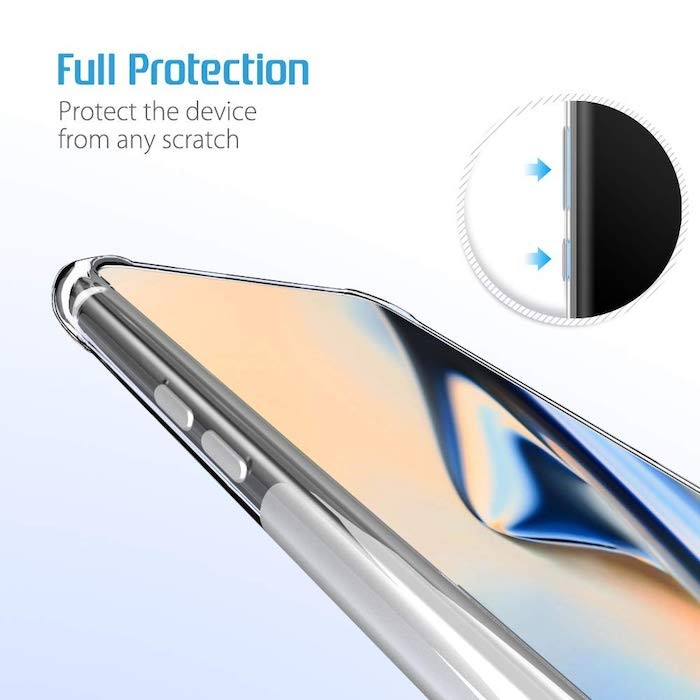 WOW Imagine Flexible Shockproof Crystal Clear TPU Back Cover
