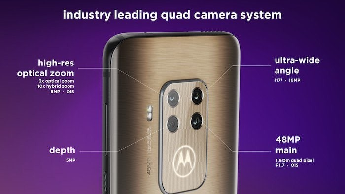 Motorola One Zoom Quad Camera Setup