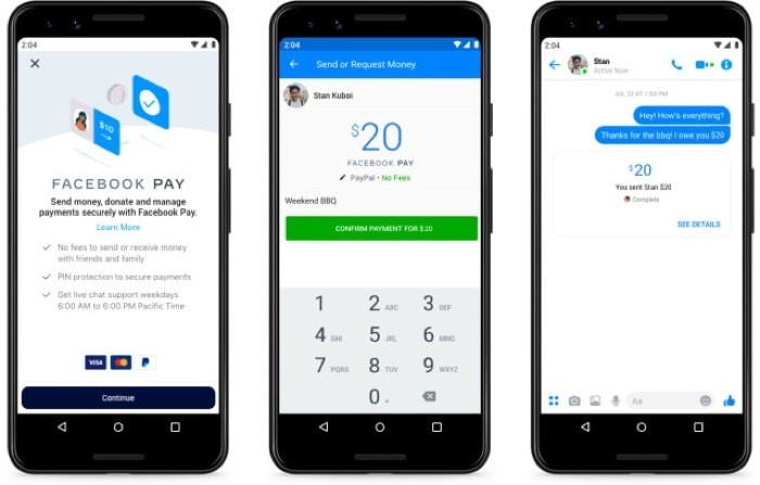 Facebook announces Facebook Pay for Facebook, Instagram, and WhatsApp
