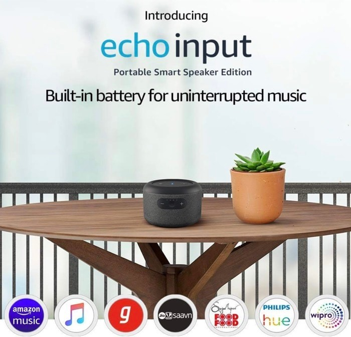Amazon Echo Input Portable Smart Speaker Launched in India for Rs 4999