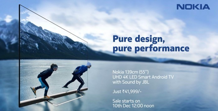 Nokia Android TV with 55-inch 4K Display Announced for Rs 41,999