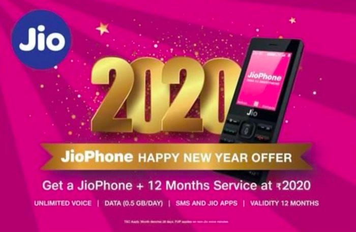 Reliance Jio Phone 2020 Happy New Year Offer