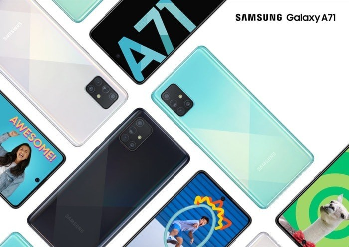 Samsung Galaxy A71 with Snapdragon 730 and Quad Rear Cameras Announced