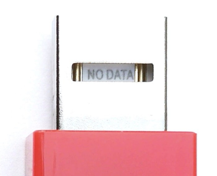A Juice-Jack defender with no data pins to prevent data transfer.