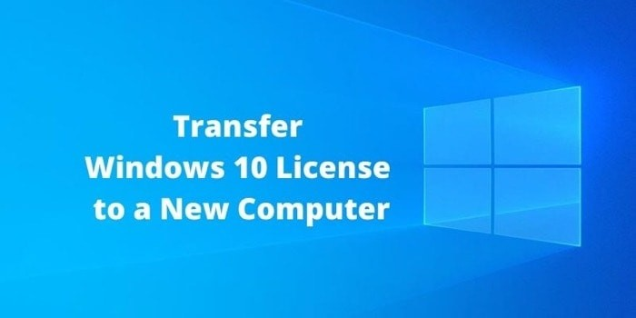 Transfer Windows 10 License To New Computer