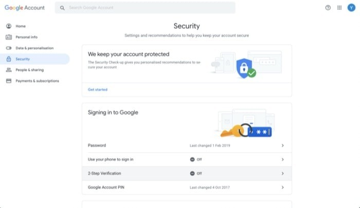 Enable Two Factor Authentication Google Account 2