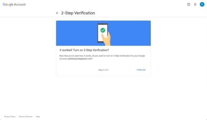 Enable Two Factor Authentication Google Account 5