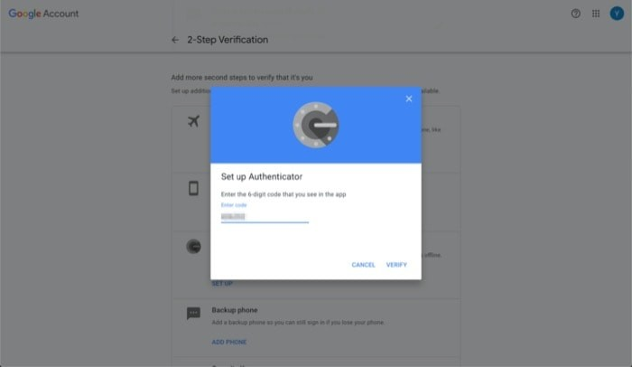Enable Two Factor Authentication Google Account 9
