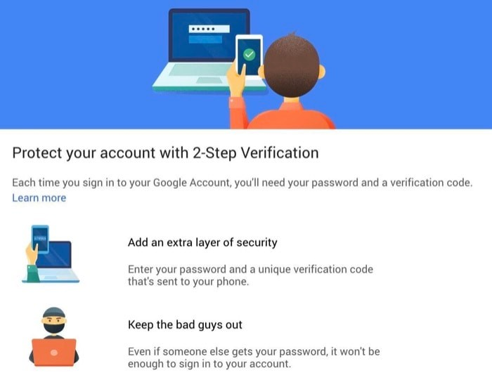 How to Enable Two Factor Authentication on Google Account