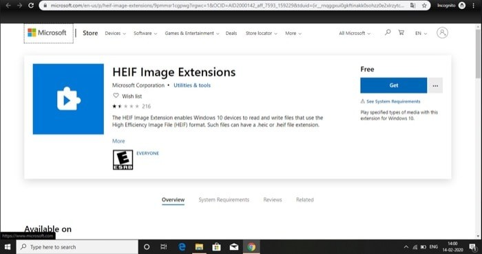 How to enable support for HEIF and HEVC Files on Windows 10 1 1