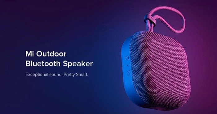 Xiaomi Mi Outdoor Bluetooth Speaker with 2000mAh Battery Launched for Rs 1,399