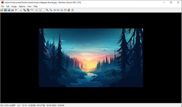 IrfanView image viewer windows