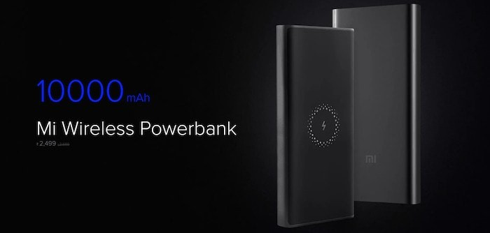 Mi Wireless Powerbank with 10,000mAh Capacity and Wireless Charging Launched for Rs. 2,499