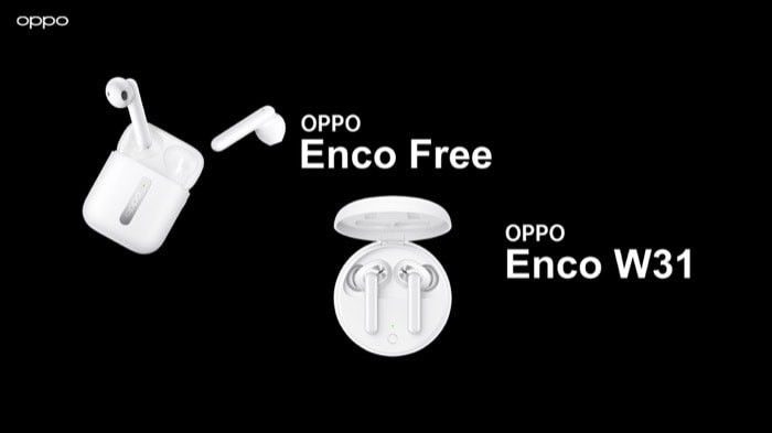 Oppo Enco Free and Enco W31 TWS Earbuds Launched in India