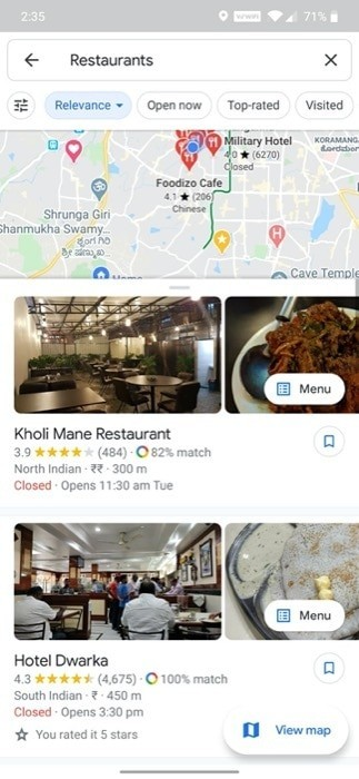 View personalized restaurant recommendations 1