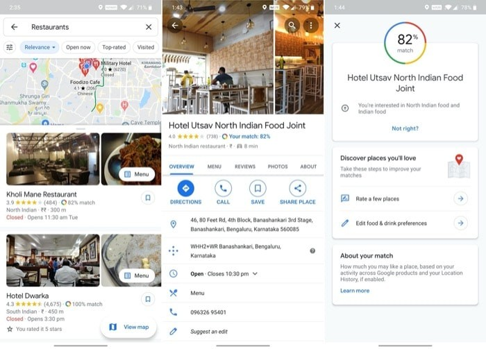 View personalized restaurant recommendations 2