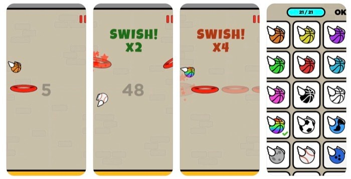 Casual iOS Games Flappy Dunk