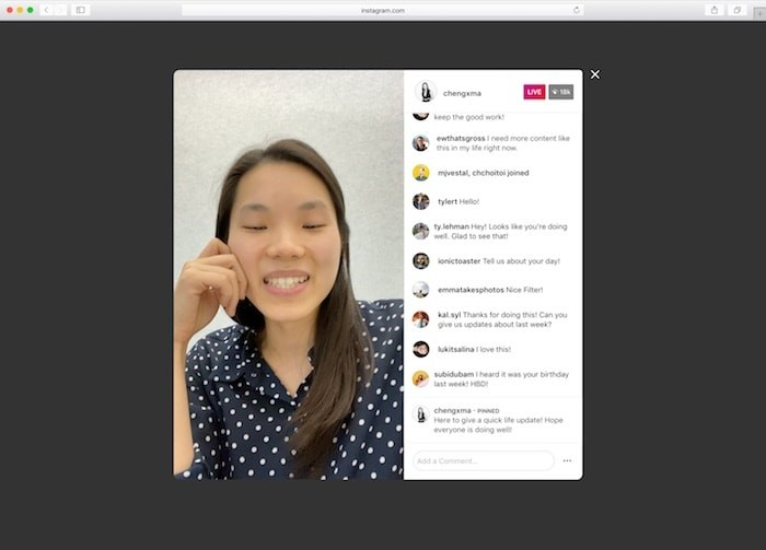 Instagram continues to get more desktop-friendly, adds support for Live