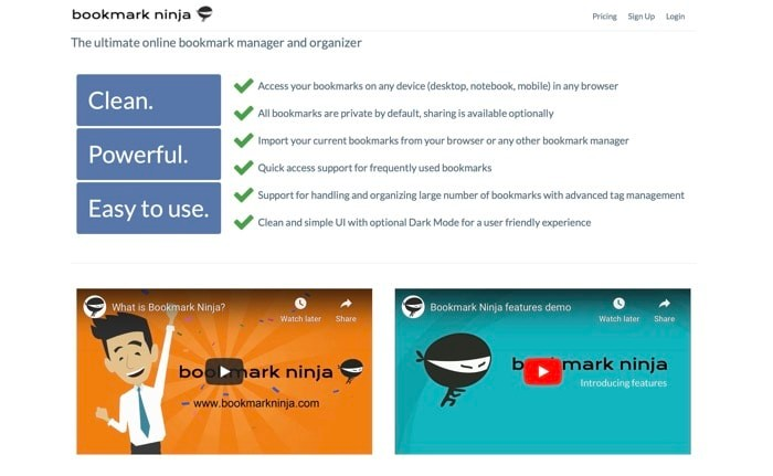Best Bookmark Manager Bookmark Ninja