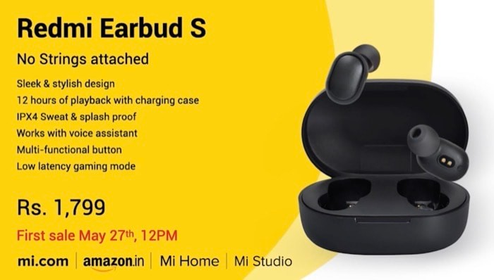 redmi earbuds s price india