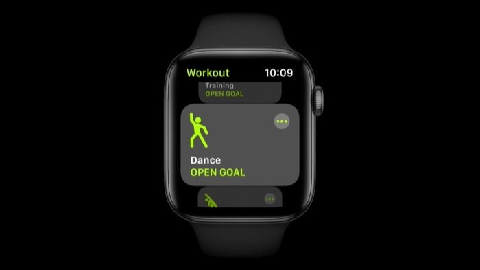 apple watch dance workout
