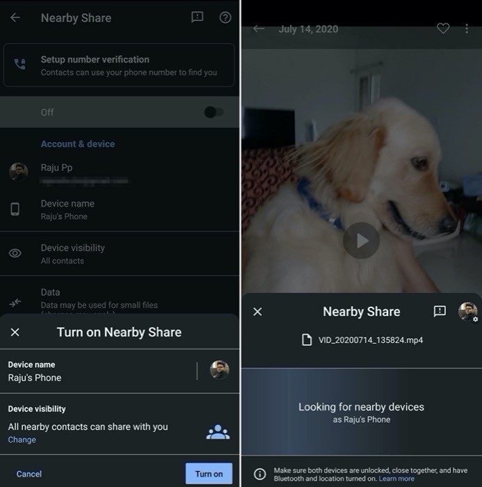 How to use Google Nearby Share