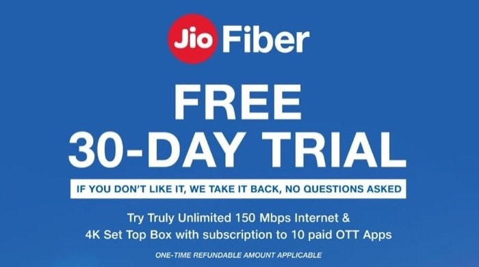 New JioFiber Plans: No FUP, Symmetric Speeds, Free OTT, 30-day Free Trial and more