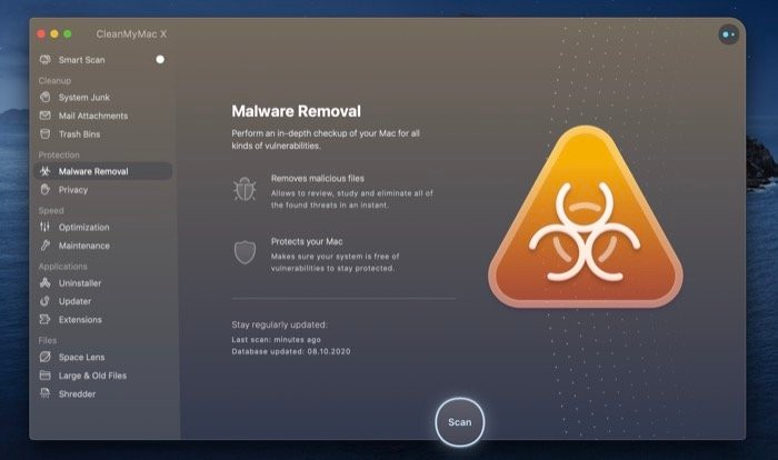 CleanMyMac X Malware Removal