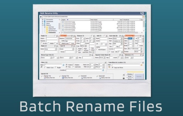 Batch Rename Files (on Windows)