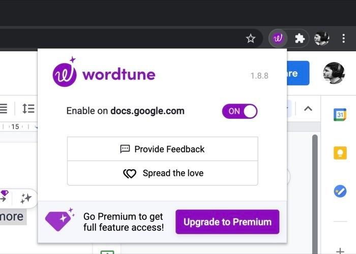 Wordtune extension