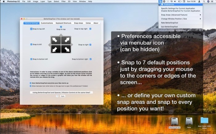 BetterSnapTool window management app for macOS